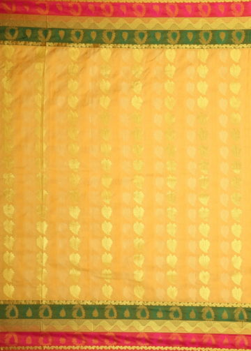 Yespoho Gorgeous Treasure Color Self-embossed Kanchipuram Saree