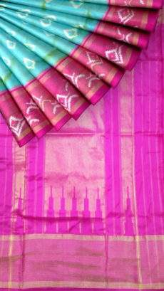 Palapitta Pochampally saree with depum pattern-yespoho