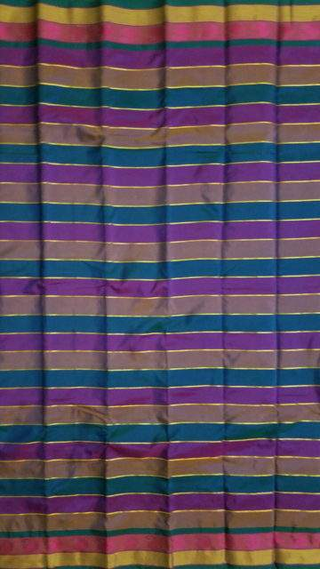 Yespoho Extravagant Multicolor Arani with Stripes pattern