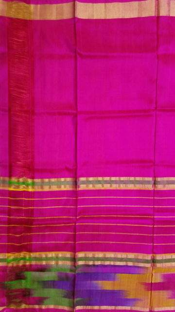 Shop Pink and Orange Uppada Silk Saree Online