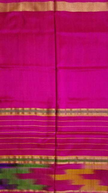 Orange Pink and Orange Uppada Silk Saree
