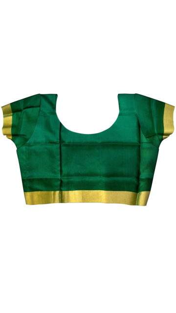 Bottle green and magenta Uppada Saree with checks with Unstitched Blouse