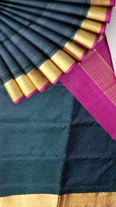Black and magenta Uppada Jamdani soft silk saree-yespoho