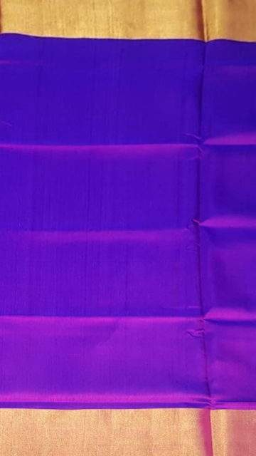 Yespoho Violet Uppada soft saree with plain pallu