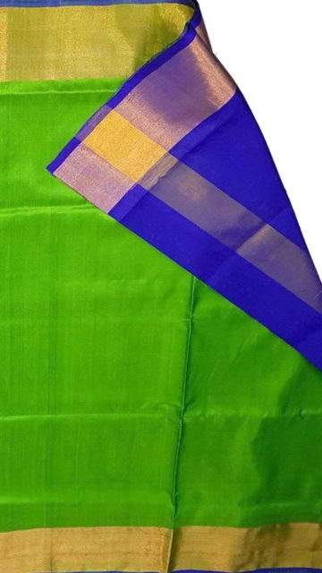 Blue Blue and green Uppada soft silk saree