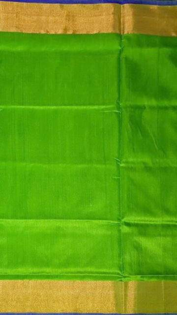 Yespoho Blue and green Uppada soft silk saree