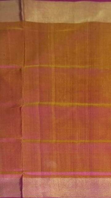 Yespoho Mustard and magenta Uppada soft silk saree with plain pattern