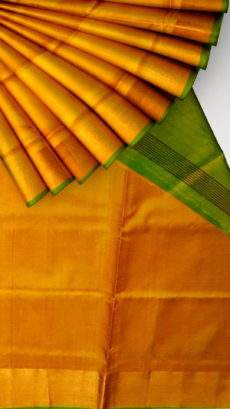 Green and mustard Uppada soft silk saree