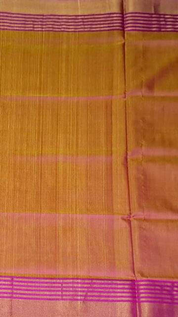 Yespoho Magenta and mustard Uppada soft silk saree with striped border