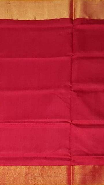 Yespoho Mustard and tomato red Uppada soft silk saree