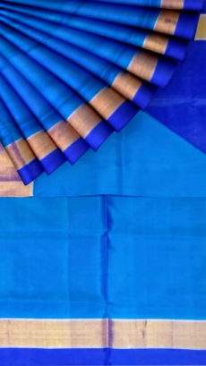 Ananda sky blue Uppada soft silk saree