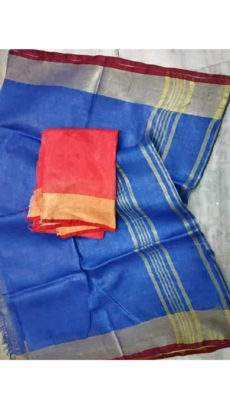 Dark Blue Linen Saree