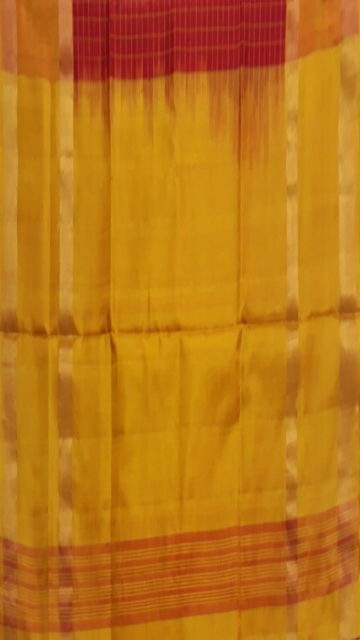 Golden Yellow Red with Golden Yellow border Mahanati style Uppada silk saree