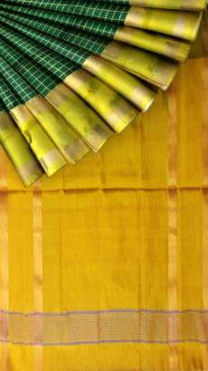 Green with golden border Mahanati style Uppada silk saree-yespoho