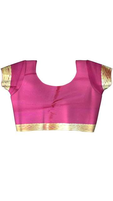 Kanchipuram saree with Golden Flower Design pattern and Flower Butta design on a Contrast border with Unstitched Blouse
