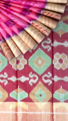 Light pink with maroon pink pallu Silk Cotton Saree-yespoho