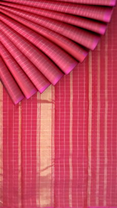 Maroon color pure zari Kanchipuram silk saree-yespoho