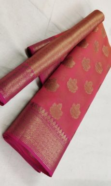 Red Banarasi Soft Silk Saree with Fancy Design Pallu-yespoho