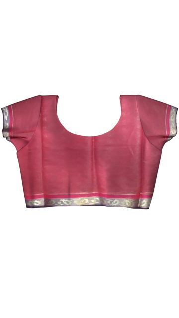 Dusty Magenta Silk Cotton Saree With Butta Design with Unstitched Blouse
