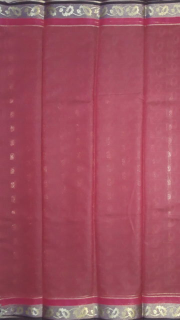 Shop Dusty Magenta Silk Cotton Saree With Butta Design Online
