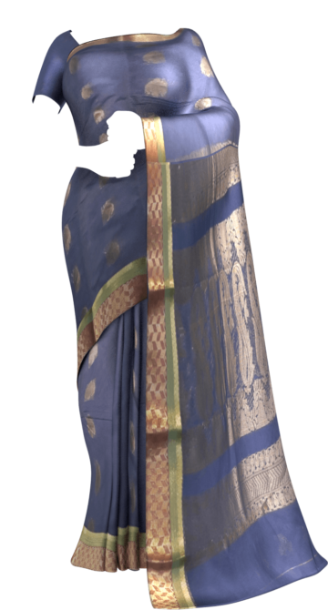 Teal Blue Silk Cotton Saree With Zari Butta Design Cotton Sarees Limited Edition Yespoho Sarees Gift Sarees Handpicked Collections New Arrivals