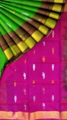Green Uppada Soft silk butta saree-yespoho