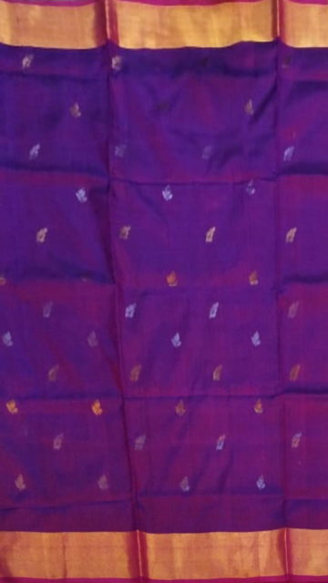 Yespoho Magenta Saree with full body Uppada Soft silk saree
