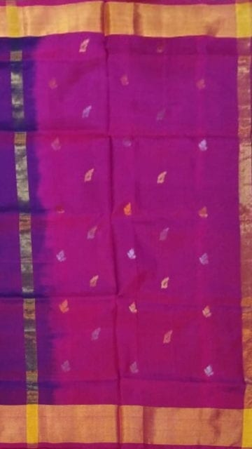 Magenta Magenta Saree with full body Uppada Soft silk saree