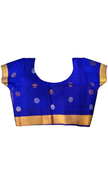 Royal blue Saree with full body Uppada Soft silk saree with Unstitched Blouse