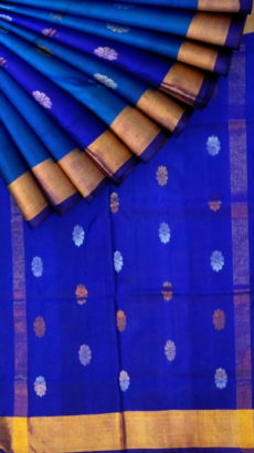 Royal blue Saree with full body Uppada Soft silk saree-yespoho