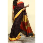 Linen Sarees for the Office-yespoho