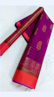 Beautiful Purple & Magenta Fancy Banarasi weaved from Silk Mix-yespoho