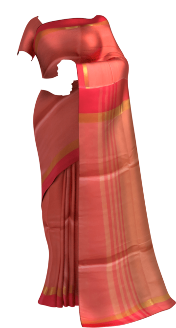 Tomato red cotton saree with plain pattern Cotton Sarees Limited Edition Yespoho Sarees