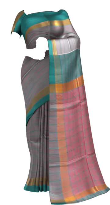 Pink and Teal Cotton saree with Plain border Cotton Sarees Limited Edition Yespoho Sarees New Arrivals