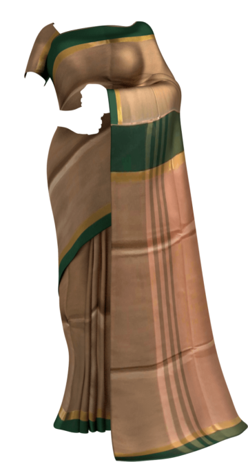 Mustard and Green Cotton saree with striped pallu Cotton Sarees Limited Edition Yespoho Sarees Gift Sarees New Arrivals