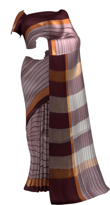 Maroon Cotton saree with thin stripes pattern Cotton Sarees Limited Edition Yespoho Sarees New Arrivals