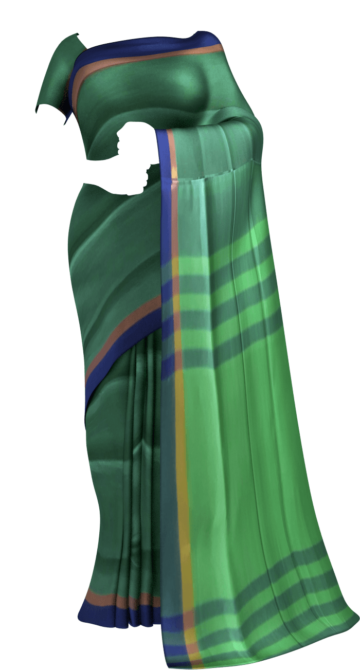 Green and Purple cotton saree with striped pallu Cotton Sarees Limited Edition Yespoho Sarees New Arrivals