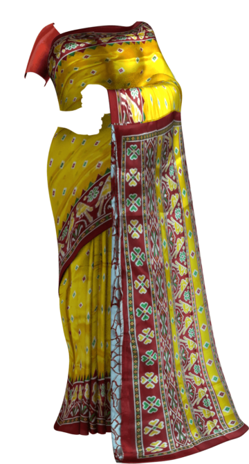 Yellow with Tomato red pallu and fancy border silk saree Limited Edition Yespoho Sarees Gift Sarees