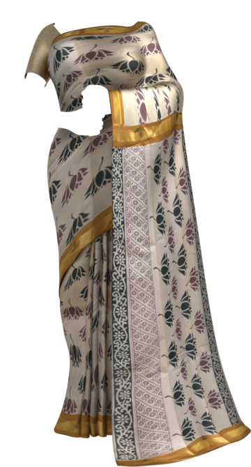 Light mustard with multicolor flower design Cotton saree Limited Edition Yespoho Sarees