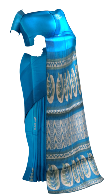Blue with designer rich pallu Silk Cotton saree Yespoho Sarees New Arrivals Uppada Jamdani With Butta Saree
