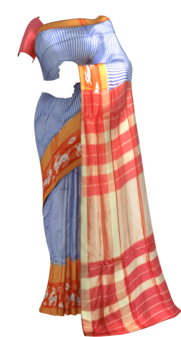 Pochampally saree with Ikat pattern and Blue color Yespoho Sarees New Arrivals Ikkat Sarees