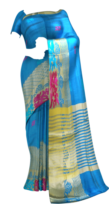 Modern Ananda Sky Blue Silk Mix Limited Edition Yespoho Sarees Gift Sarees