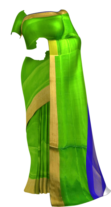 Shop Blue and green Uppada soft silk saree Online