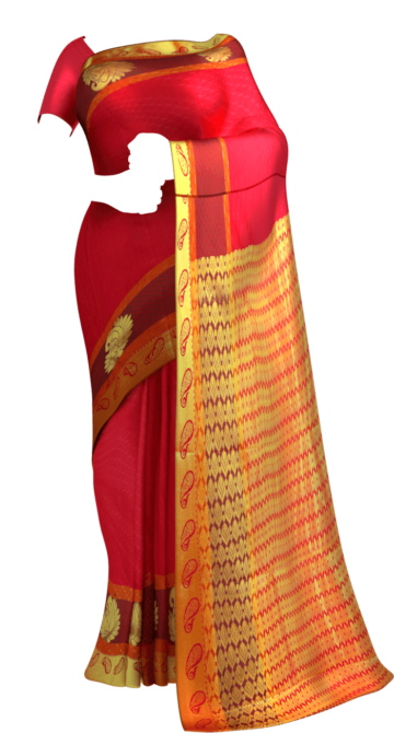 Look Radiant with this Maroon Kanchipuram Saree Kanchipuram Silk Saree Yespoho Sarees Kanchipuram Silk Sarees Gifting