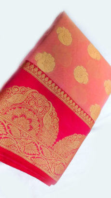 Pure Cotton Saree with Peacock Butta Pallu Perfect for: Casual Wear, Ceremonies, Dailywear or Gifting-yespoho