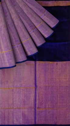 Dark Violet and Purple Uppada Tissue Silk saree with Plain pallu perfect-yespoho