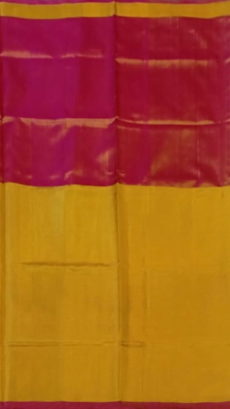 e232b9a07f Dark Pink and Yellow Uppada Tissue Silk saree with Plain pallu-yespoho.  Previous; Next
