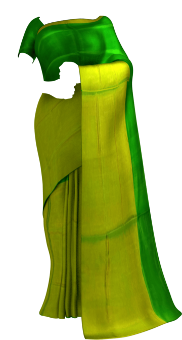 Shop Green Uppada Tissue Silk Saree With Greenish Golden Border Online