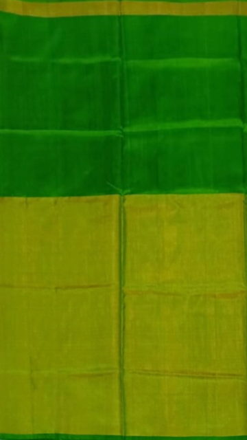 Yespoho Green Uppada Tissue Silk Saree With Greenish Golden Border