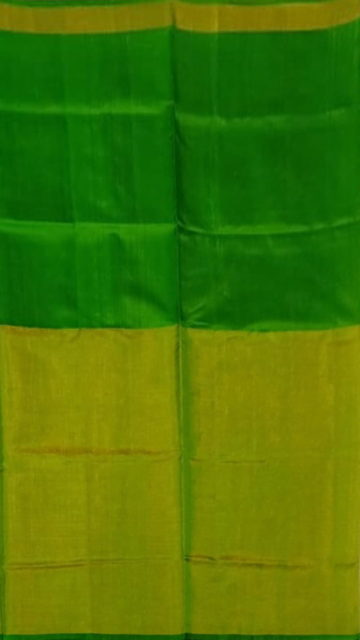 Gold Green Uppada Tissue Silk Saree With Greenish Golden Border